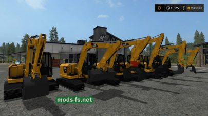 CAT 307 для Farming Simulator 2017