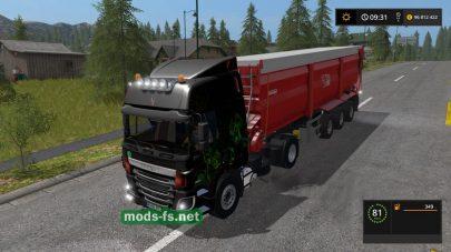 Мод тягача DAF 95AbstractColor в игре FS 17