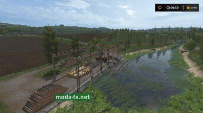Мост на карте Сосновка
