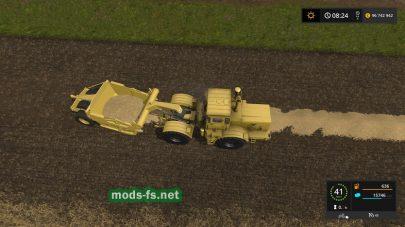 Скрепер на базе К-700 в игре FS17