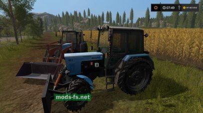 Мод трактора МТЗ 82.1У с отвалом