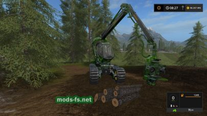 Машина для заготовки бревен в игре FS 17