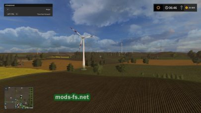 Поля в игре Farming Simulator 2017