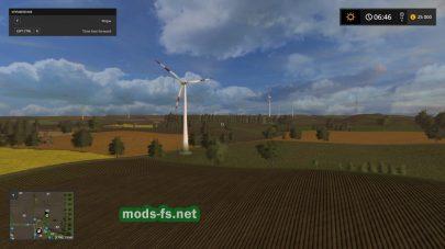 Поля в игре Farming Simulator 2017