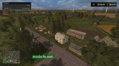 Польская деревня в игре FS 17