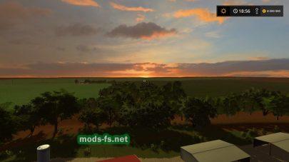 Красивый пейзаж в игре Farming Simulator 2017