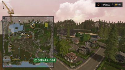 Схема карты «Springdale Farms»