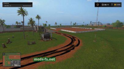 Карта с пальмами для Farming Simulator 2017