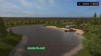 Озеро на русской карте в игре Farming Simulator 2017