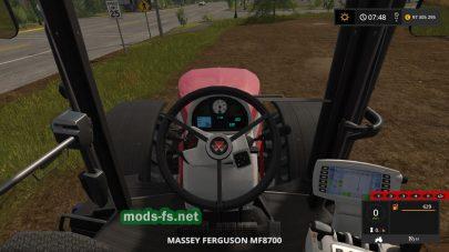 Вид с кабины трактора в игре FS 17
