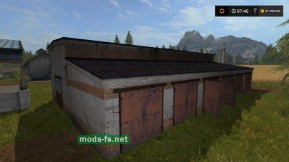 Мод на гаражи для техники в игре FS 2017