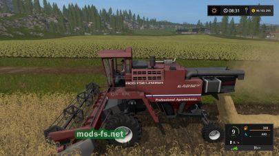 Комбайн RSM в игре Farming Simulator 2017