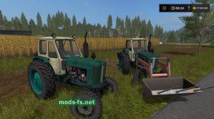 Трактор ЮМЗ-6Л с погрузчиком в FS 17