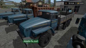 Русские грузовики УРАЛ в игре FS 17