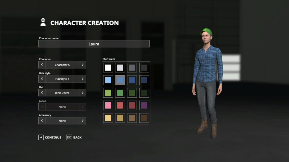 Игровые персонажи в Farming Simulator 2019