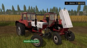 МТЗ-80 красного цвета в игре FS 17