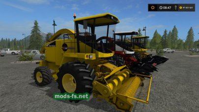Техника New Holland для уборки урожая в игре FS 17
