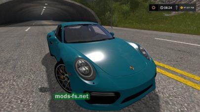 Porsche 911 Turbo S для Farming Simulator 2017
