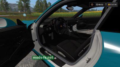 Porsche 911 Turbo S Coupe (991): вид мода с салона