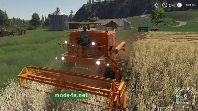 Bizon Z056 в игре Farming Simulator 2019