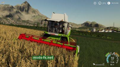 Уборка урожая в игре FS 19