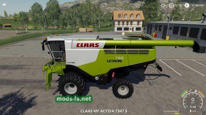 Скриншот мода «Claas Lexion 780»