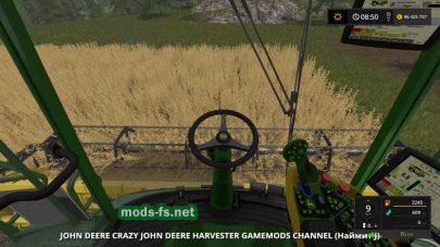 Скриншот мода «CrazyJohnDeereAndCutter»
