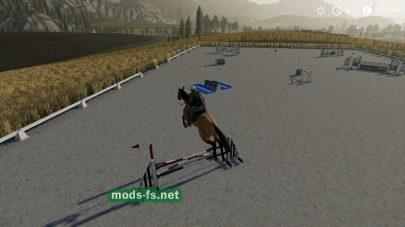 Мод на площадку с преградами для лошади в FS 19