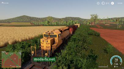 Поезд в игре Farming Simulator 19