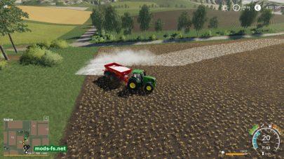 Разбрасыватель удобрений в игре Farming Simulator 2019