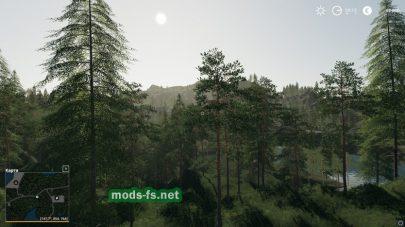 Лес для игры Farming Simulator 2019
