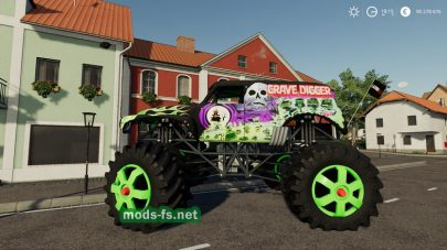 Grave Digger Monster Truck mods