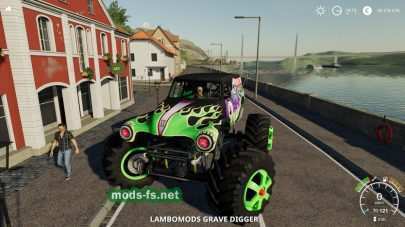 Мод автомобиля Grave Digger Monster Truck