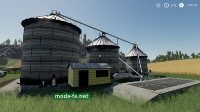 Ангар для хранения зерна в игре FS 19