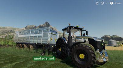 Мод трактора JD 7R