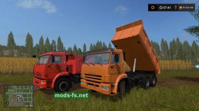 Грузовик КамАЗ-65115-049-29 в игре FS 17