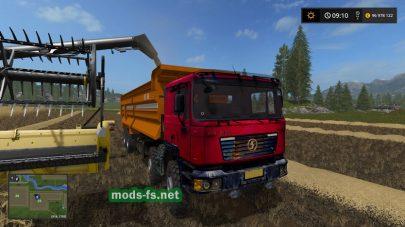 Shacman F2000 8X4 для Farming Simulator 2017