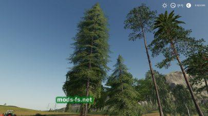 Мод пак деревьев для Фермер Симулятор 19