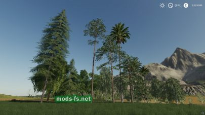 «16 Trees Placeable» mod Farming Simulator 2019