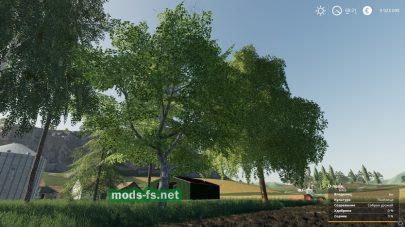 Пак на 16 деревьев для игры FS 2019