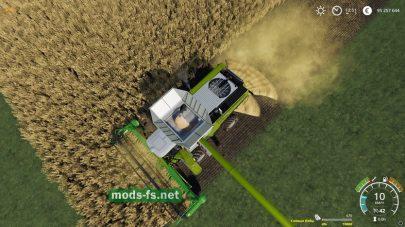 Мод который показывает заполнение техники культурами в Farming Simulator 2019
