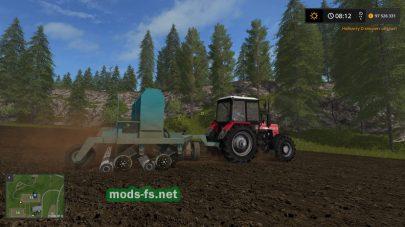 Мод русской сеялки в игре Farming Simulator 2017