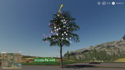 Новогодняя елка для игры Farming Simulator 2019