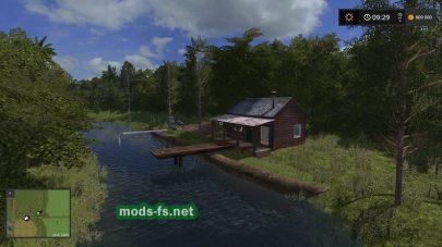 Карата с озером для FS 17