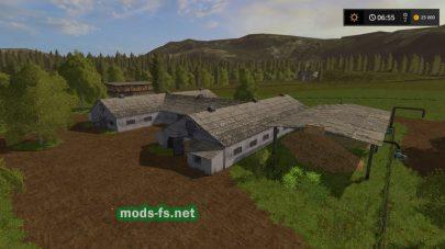 Старая ферма в игре Farming Simulator 2017