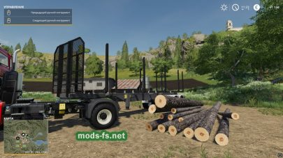 Мод на прицеп Timber Runner Wide With Autoload Wood