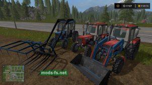 Мод пак на тракторы Беларус для FS 17