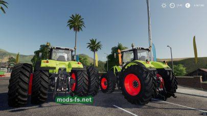 Мод трактора Claas Axion 900
