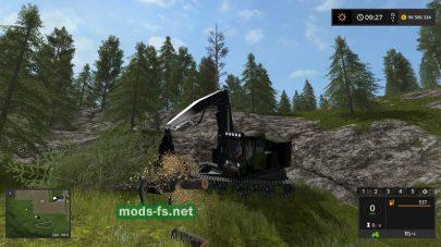 Мод на машину для срезания деревьев в игре FS 17
