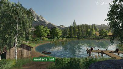 Карта с озером для FS 19